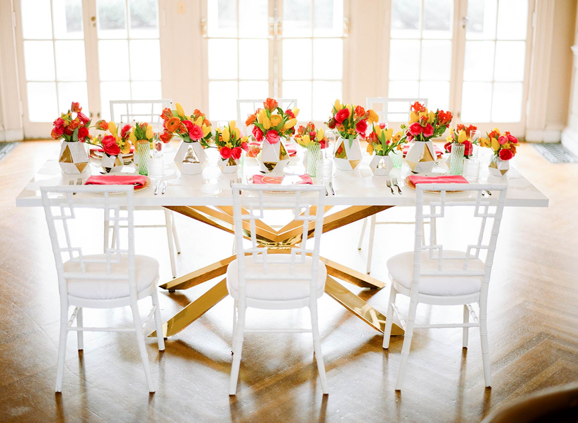 Mansion Table Setting Wedding