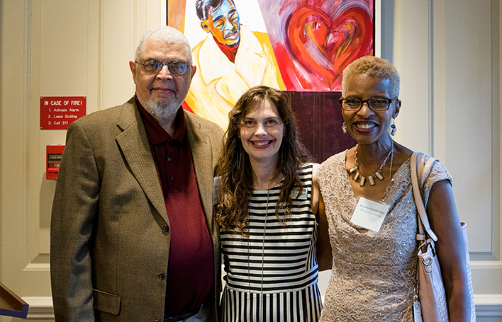 Artists Hubert Jackson And Carolyn Goodridge With Director Of Exhibitions Lesley Lundgren 2